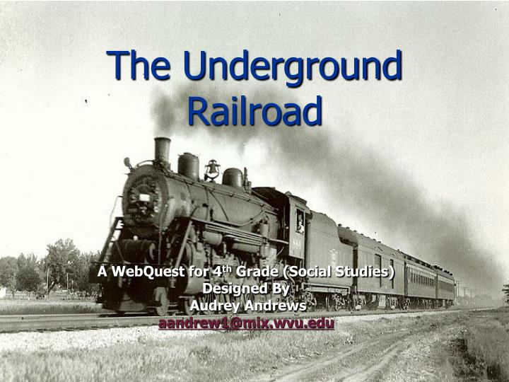underground railroad essay conclusion Conclusion now that you have learned about the underground railroad, you are ready to reenact it with the entire fourth grade click on your role link for directions.