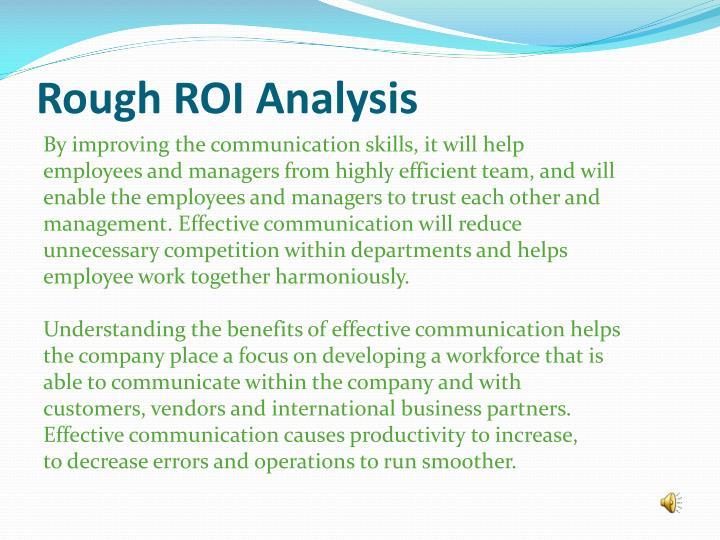 Rough ROI Analysis