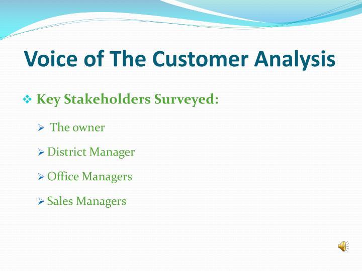 Voice of The Customer Analysis