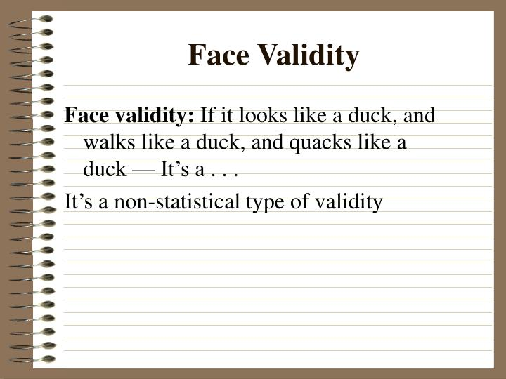 Face Validity