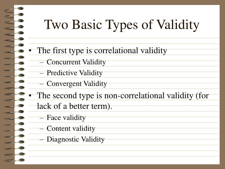 Two Basic Types of Validity