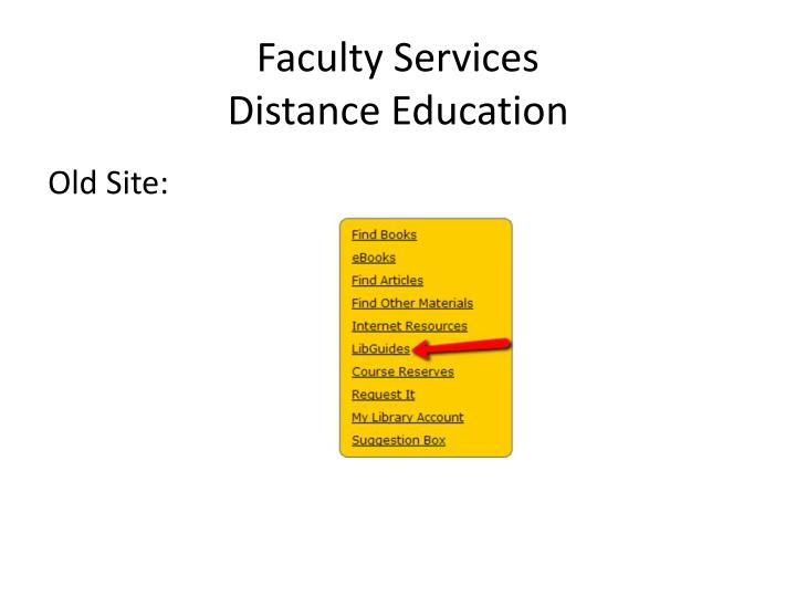 Faculty Services