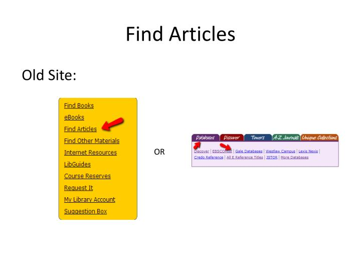 Find Articles