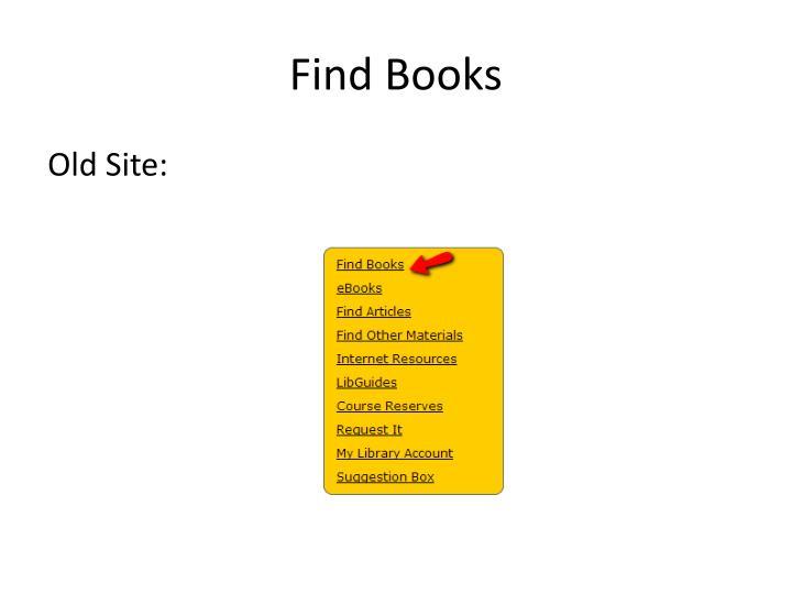 Find books