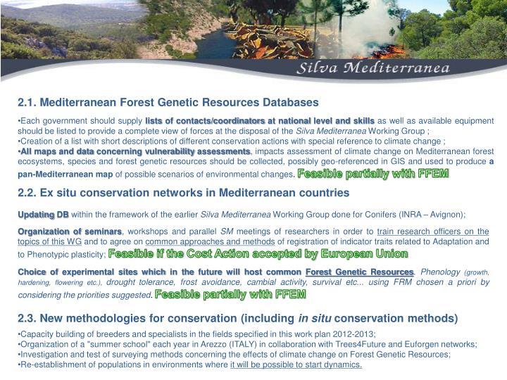 2.1. Mediterranean Forest Genetic Resources Databases