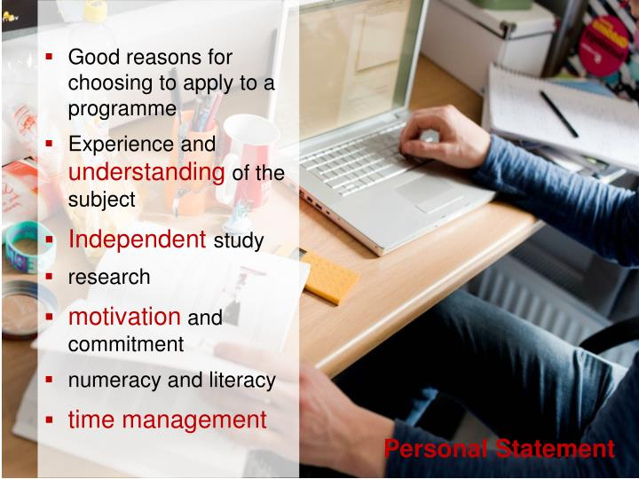 Good reasons for choosing to apply to a programme