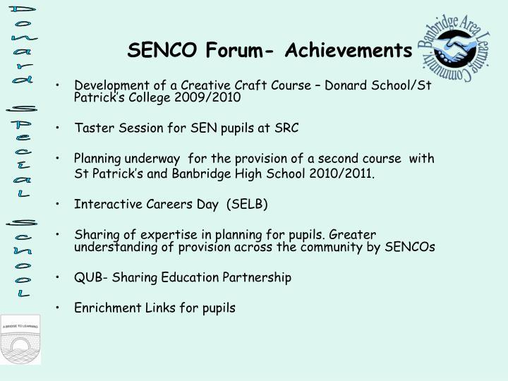 Development of a Creative Craft Course – Donard School/St Patrick's College 2009/2010