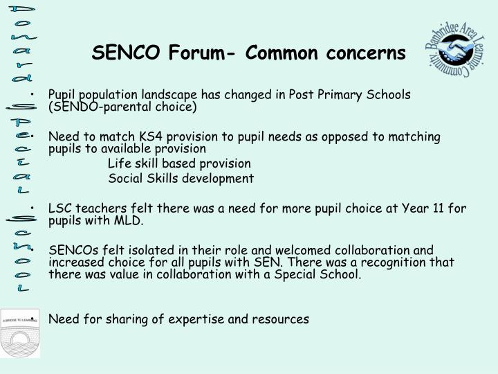 Pupil population landscape has changed in Post Primary Schools (SENDO-parental choice)