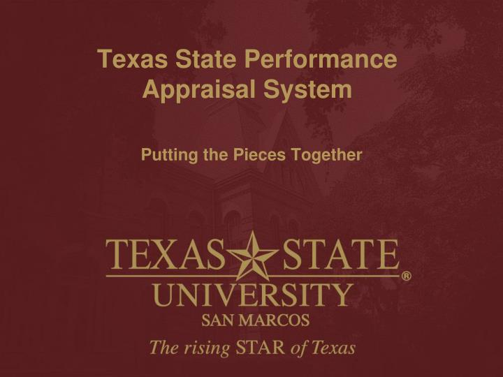 texas state performance appraisal system n.