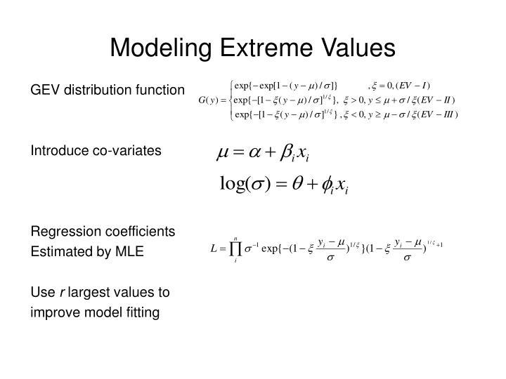 Modeling Extreme Values
