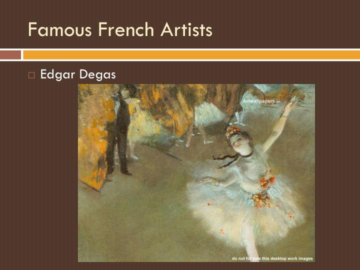 Famous French Artists