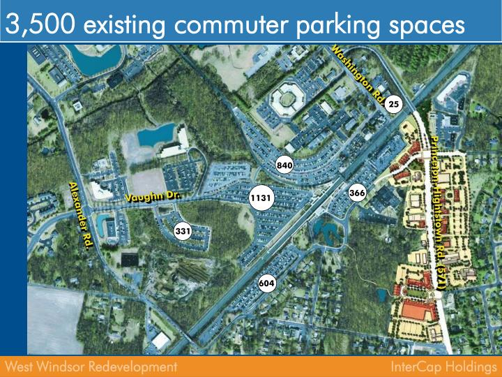 3,500 existing commuter parking spaces