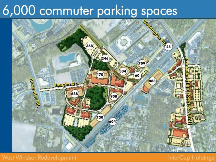 6,000 commuter parking spaces