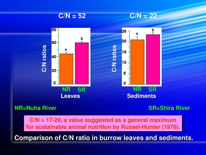C/N = 52