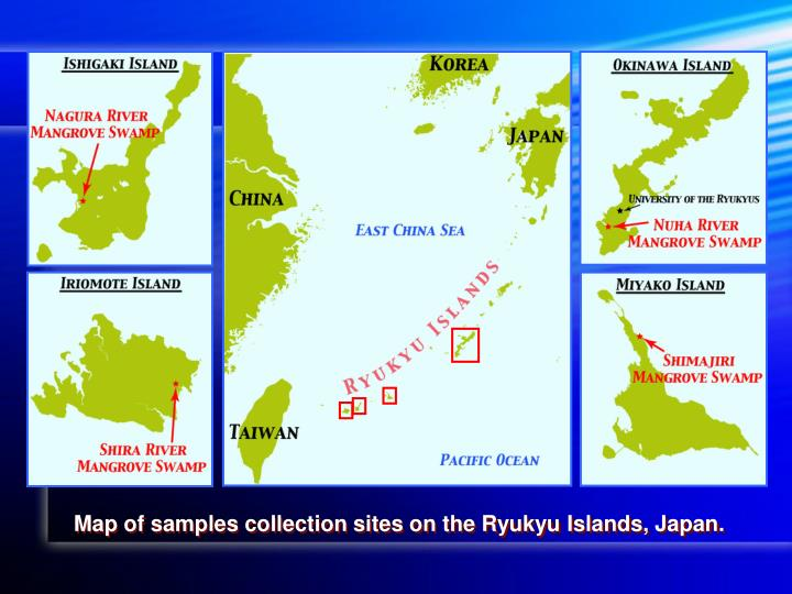 Map of samples collection sites on the Ryukyu Islands, Japan.