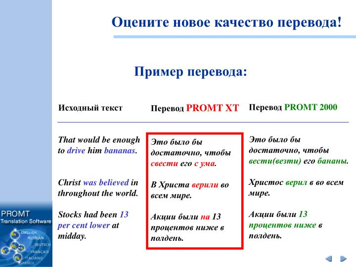 Оцените новое качество перевода!