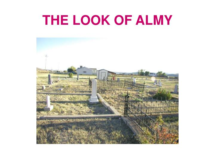 THE LOOK OF ALMY
