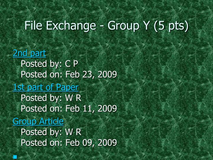 File Exchange - Group Y (5 pts)