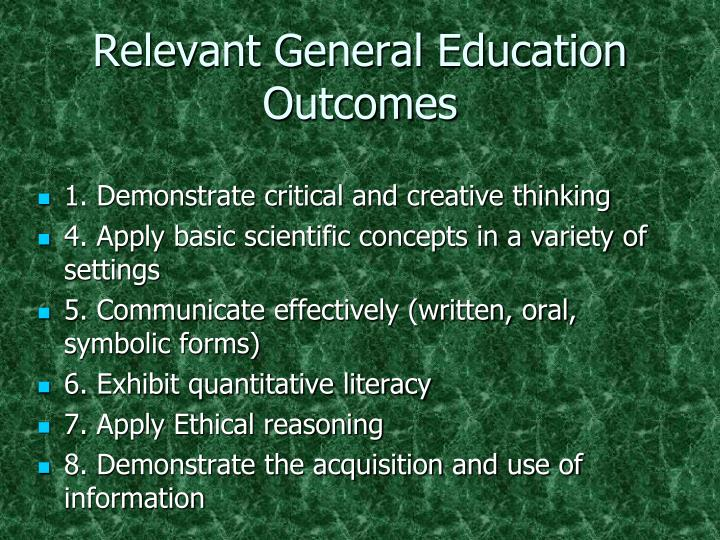 Relevant General Education Outcomes