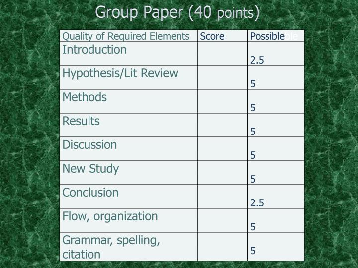 Group Paper (40