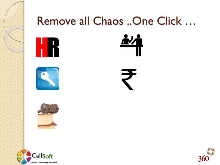 Remove all Chaos ..One Click …