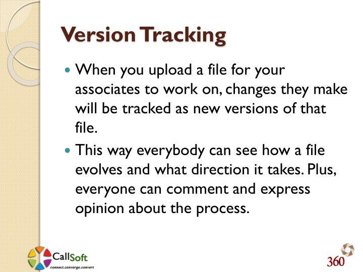 Version Tracking