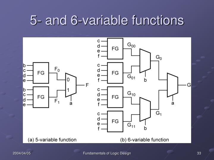 5- and 6-variable functions