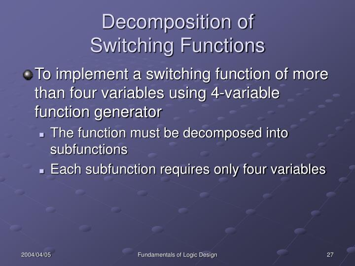 Decomposition of