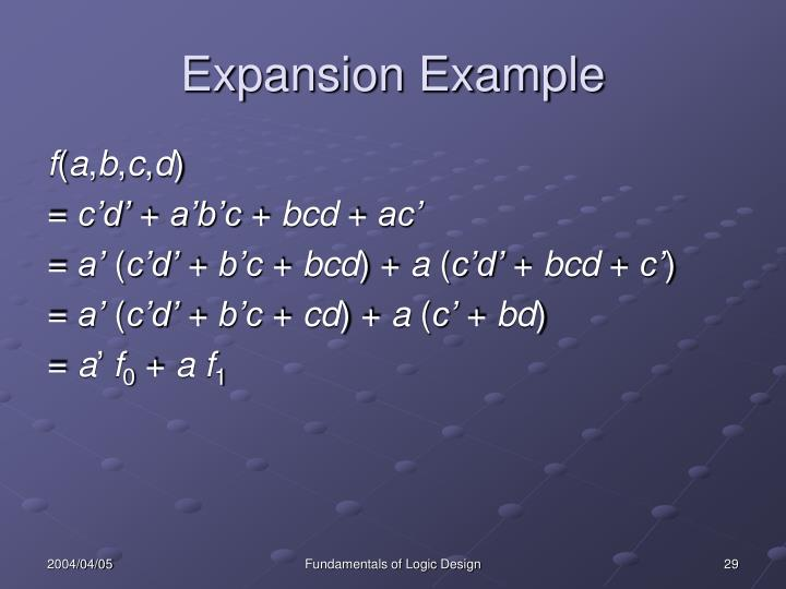 Expansion Example