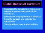 global radius of curvature