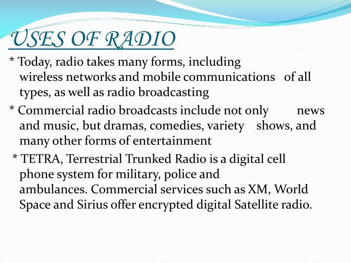 USES OF RADIO