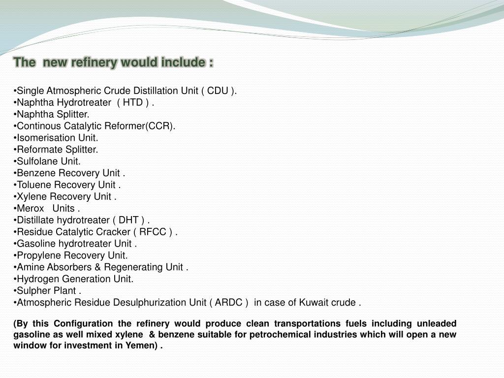 PPT - Aden Refinery Company PowerPoint Presentation - ID:4838010