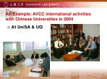 an example avcc international activities with chinese universities in 20041