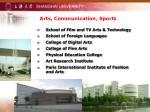 arts communication sports