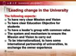 leading change in the university1