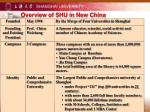 overview of shu in new china