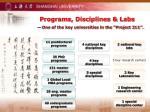 programs disciplines labs
