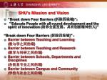shu s mission and vision