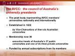 the avcc the council of australia s university presidents