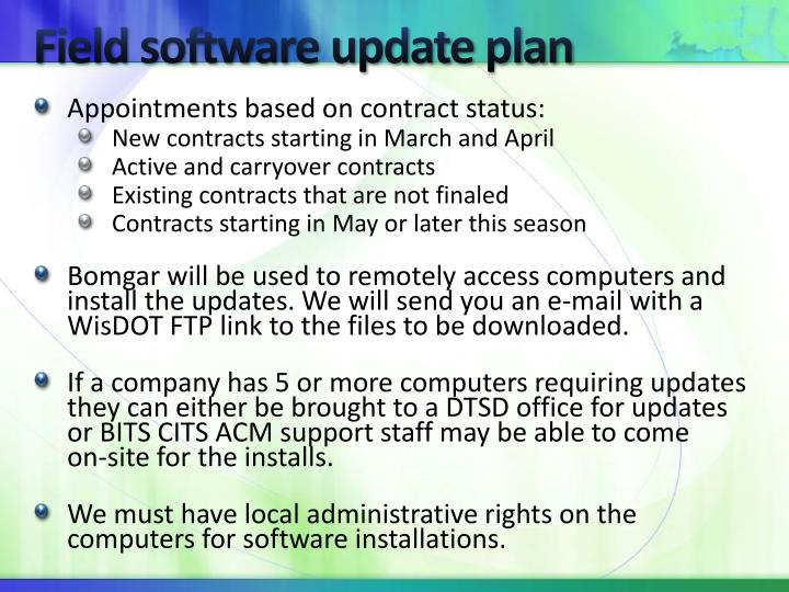 Field software update