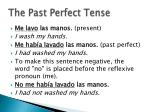 the past perfect tense9