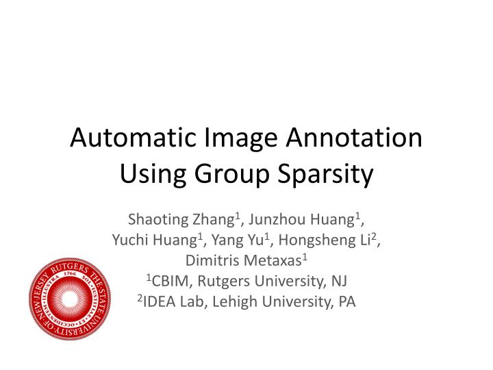 automatic image annotation using group sparsity n.