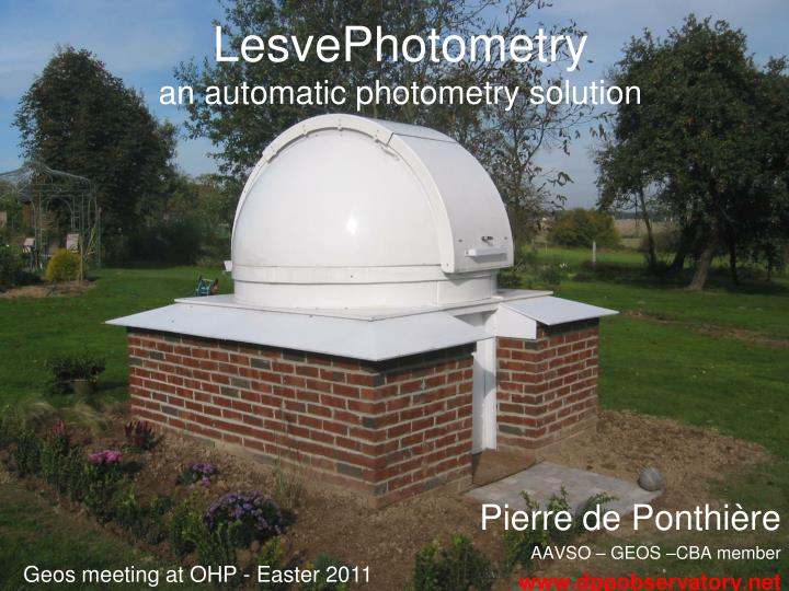 lesvephotometry an automatic photometry solution n.