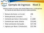 ejemplo de ingresos nivel 3
