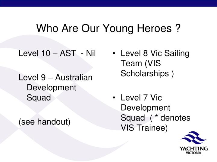 Who Are Our Young Heroes ?