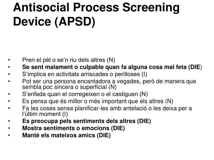 Antisocial Process Screening Device (APSD)