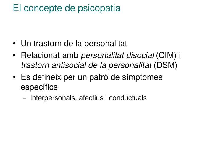 El concepte de psicopatia