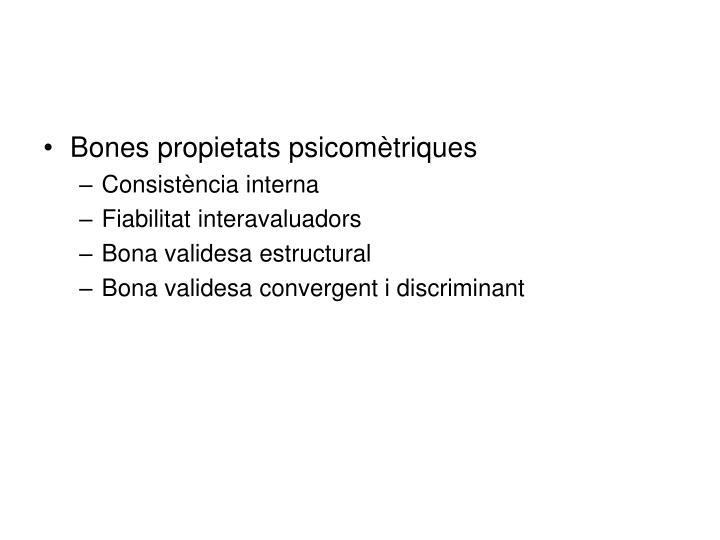 Bones propietats psicomètriques