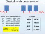 classical synchronous solution