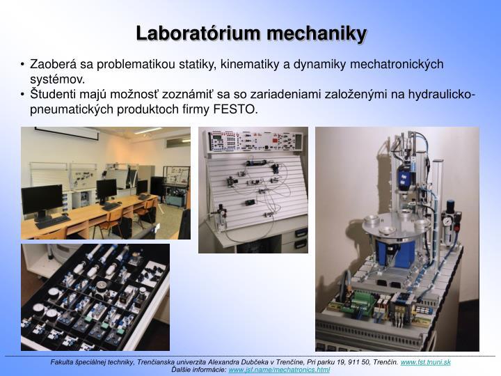 Laboratórium mechaniky